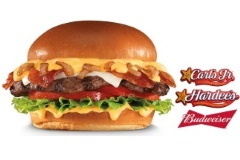 The Budweiser beer cheese bacon burger bleah
