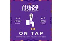 Logo for Alcohol Justice on Tap, the Alcohol Justice Podcast